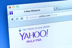 Yahoo Website Stock Image