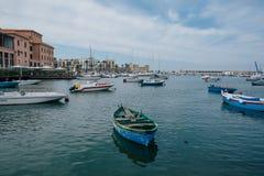 Yahts in apulia Venedig Italiens Bari stockfotografie
