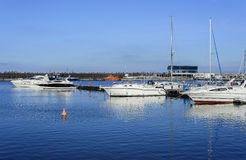 Yahts in Constanta harbor Stock Photography