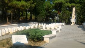 Yahya Sergeant Cemetery and Memorial. Eceabat / Çanakkale royalty free stock image