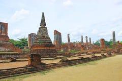 Yai Chaimongkol tempeltempel på Ayutthaya Provibce Arkivbilder
