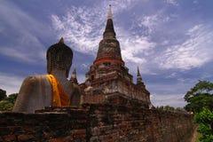 Yaichaimongkol de Wat, ayutthaya, Tailandia Fotos de archivo libres de regalías