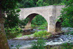 Yair bridge and river Tweed in Scottish Borders Stock Images