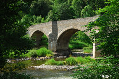 Yair bridge on the river Tweed in summer Stock Photography
