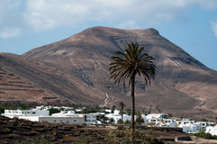 Yaiza on Lanzarote, Canary Islands, Spain. Royalty Free Stock Image