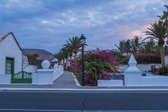 Yaiza Lanzarote, kanariefågelöar, Spanien Royaltyfri Foto
