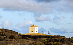 Yaiza, Lanzarote - old  farm house. With a cistern converted in a home Stock Images