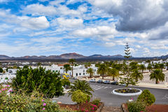 Yaiza, a picturesque small village on Lanzarote island in Timanfaya national park stock image