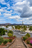 Yaiza, a picturesque small village on Lanzarote island in Timanfaya national park royalty free stock images