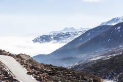 Yajiageng mountain cloudscape. This photo was taken in Yajiageng mountain,Ganzi Prefecture,Sichuan province,china Royalty Free Stock Image