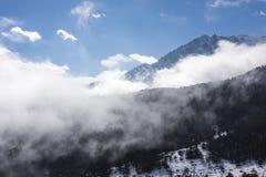 Yajiageng mountain cloudscape. This photo was taken in Yajiageng mountain,Ganzi Prefecture,Sichuan province,china Stock Image