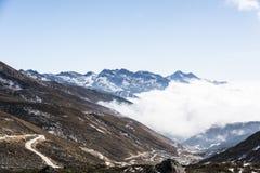 Yajiageng mountain cloudscape. This photo was taken in Yajiageng mountain,Ganzi Prefecture,Sichuan province,china Stock Photo