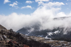 Yajiageng mountain cloudscape. This photo was taken in Yajiageng mountain,Ganzi Prefecture,Sichuan province,china Stock Photography