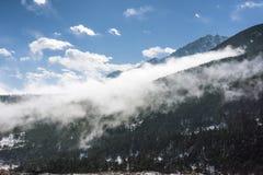 Yajiageng mountain cloudscape. This photo was taken in Yajiageng mountain,Ganzi Prefecture,Sichuan province,china Royalty Free Stock Photos