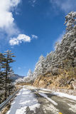 Yajiageng mountain snow-covered landscape Stock Photography
