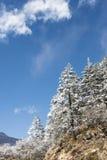 Yajiageng mountain snow-covered landscape. Yajiageng mountain cloudscape.This photo was taken in Yajiageng mountain,Ganzi Prefecture,Sichuan province,china Stock Photo