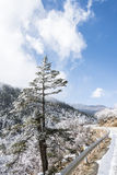 Yajiageng mountain snow-covered landscape Stock Image