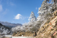 Yajiageng mountain snow-covered landscape Royalty Free Stock Images