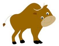 Yak. Cute yak smiling illustration isolated on white background Royalty Free Stock Image