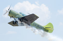 Yak 25 aerobatics airplane Stock Photography