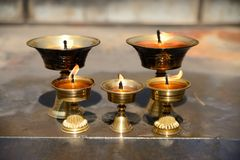 Yak Butter Lamps Stock Images