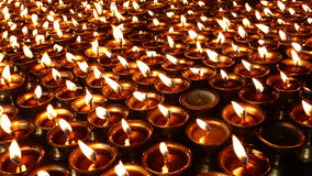 Yak Butter Lamps  in Tibet Royalty Free Stock Photo