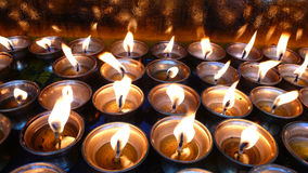 Yak Butter Lamps  in Tibet Stock Image