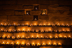 Yak Butter Lamps in Tibet Royalty Free Stock Photography