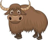 Yak cartoon. Illustration of yak cartoon pose Royalty Free Stock Image