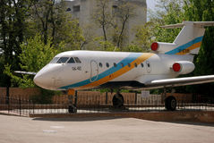 Yak-40 - ein Passagierplan Stockbild