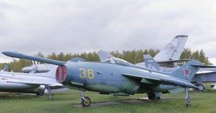 Yak-36-, experimentellt flygplan med det vertikal tagandet-av och landning Royaltyfri Foto