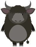 Yak with happy face. Illustration Royalty Free Stock Photos