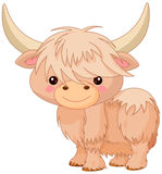 Yak. Illustration of a cute yak Royalty Free Stock Photography
