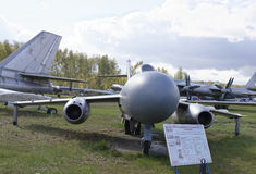 Yak-25-, Militärt jaktplan (1952) max hastighet km/tim 1090 Royaltyfria Bilder