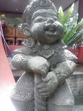 Yak-sa the ogre Stucco. Southeast asia ogre sculpture for decoration Stock Photo