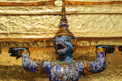 Yak sculptures, Thailand. Yak sculptures of a Buddhist Temple, Thailand Royalty Free Stock Photo