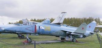 Yak-38-, skeppslagflygplan med det vertikal tagandet-av och landning Royaltyfri Fotografi