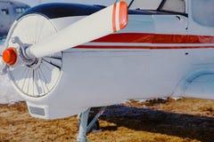 Yak-18T на том основании, одно-лезвие Стоковые Изображения