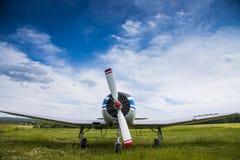 Yak 18 T. Propeller plane Yak 18 T on the aerodrome. Russia Stock Photos