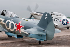 Yak-3 and TF-51D Royalty Free Stock Photo