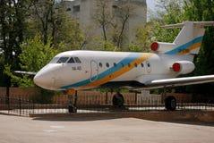 Yak-40 - un plan del pasajero Imagen de archivo