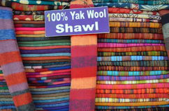 100% yak wool shawls Royalty Free Stock Photography