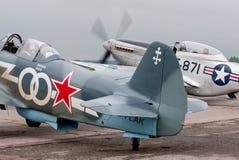 Yak-3 y TF-51D Foto de archivo libre de regalías