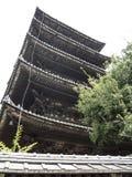 Yakasa寺庙塔 免版税库存图片