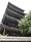 Yakasa shrine pagoda Royalty Free Stock Images