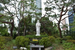 Yakhyeon Catholic Church. In Seoul, South Korea Stock Photos