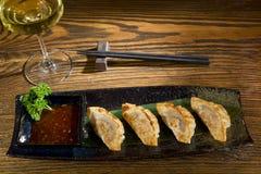 Yaki Gedza With Sauce Stock Photo