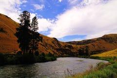 Yakima River em Yakima Canyon Imagens de Stock