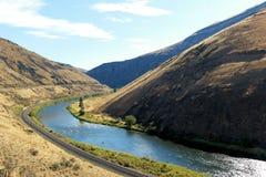 Yakima River en Yakima Canyon Photos stock