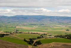 Yakima Valley. View of farming land from lookout view point stock images